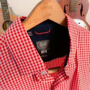 Red and White Plaid Under Armour Button Down